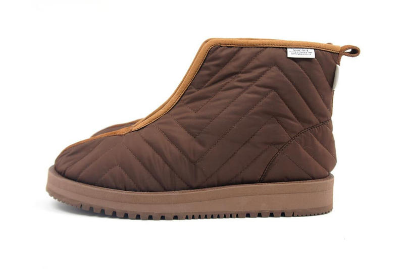nepenthes suicoke fall winter 2018 KENN Mwpab quilted lined vibram arctic sole boot collaboration footwear black green beige