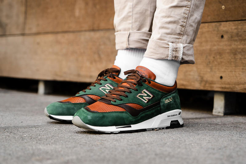 new balance 1500 robin hood made in england 2018 october footwear green brown white black