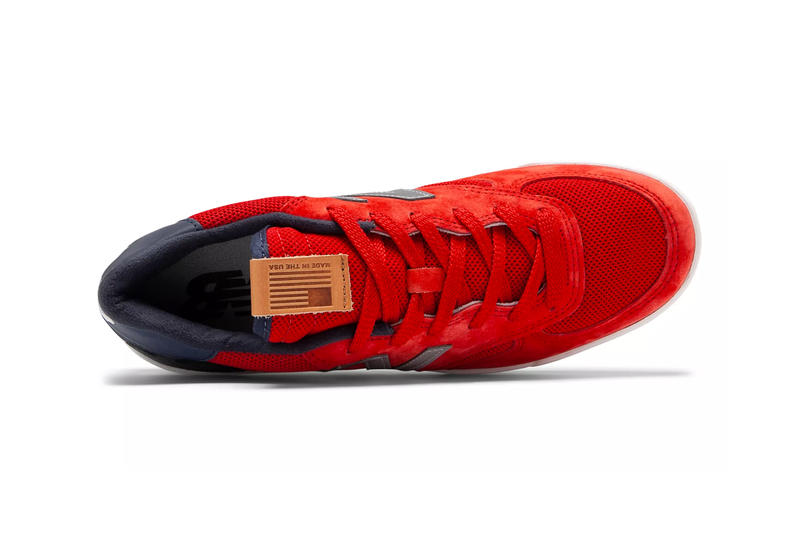 New Balance Fenway Champs Edition Shoe Details Sneakers Kicks Trainers Shoes Footwear Cop Purchase Buy On-Foot Closer First Look Red Sox World Series Win