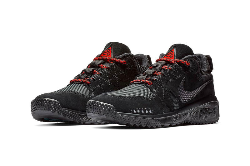 "Nike ACG Dog Mountain ""Triple Black"" Release red laces date price 2018 info sneaker colorway buy online"