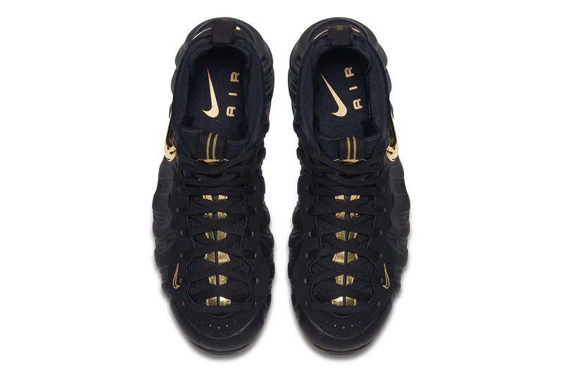 Nike Air Foamposite Pro Black Metallic Gold release info sneakers basketball