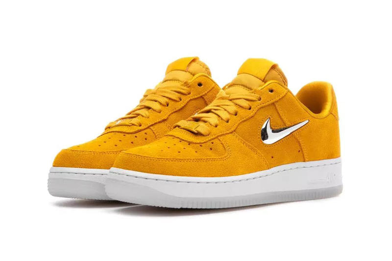 nike air force 1 07 premium lx yellow ochre metallic silver white 2018 october footwear nike sportswear