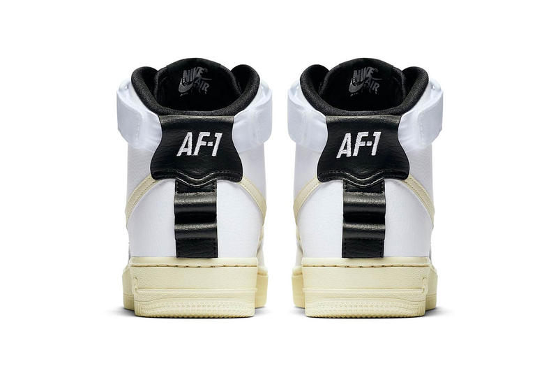 Nike Air Force 1 Utility High Release Information logo sneaker branding black white pink colorways date info