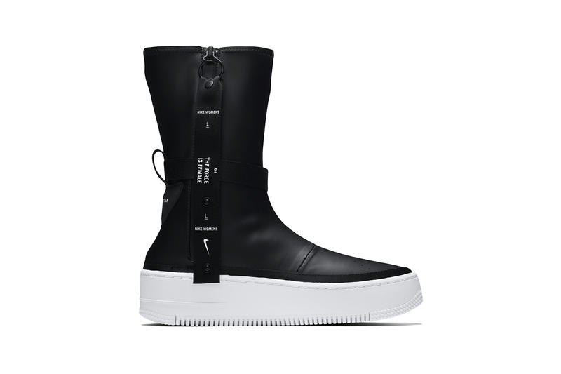 Nike af1 sage boot black white colorway drop release date info november 2 2018 first look air force 1 womens