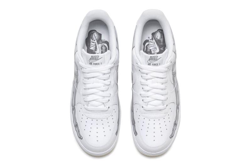 Nike Halloween Air Force 1 Skeleton Official Look Glow in the dark White