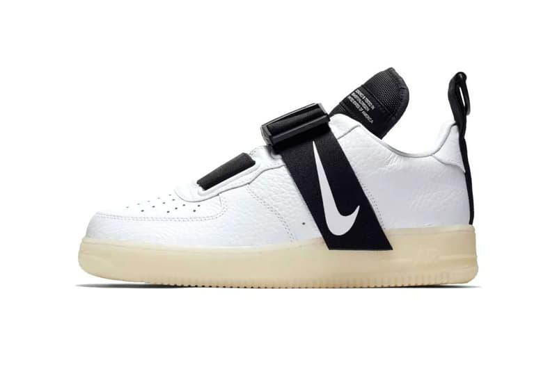 nike air force 1 utility release date 2018 october nike sportswear footwear  white black Magnetic Buckle bddabfe52