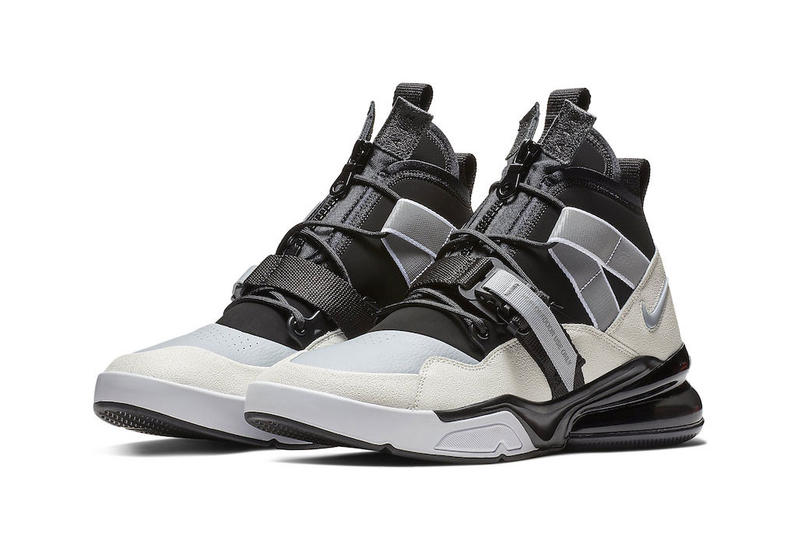 eeca91710831 Nike Air Force 270 Utility Black Sail Release Sail Wolf Grey White