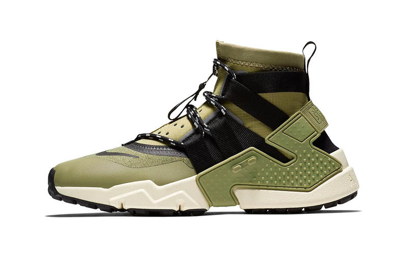 new product 73929 56be8 Nike Air Huarache Gripp Olive & Black Colorways sneaker release date info  price buy online