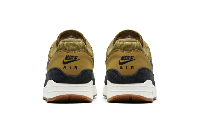 "Nike Air Max 1 ""Golden Moss/Blue Force"" Release Info date price sneaker colorway"