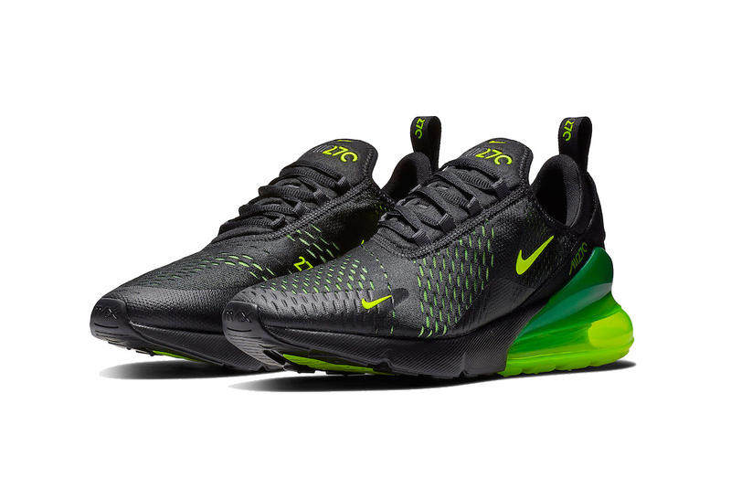 83daf5159 nike air max 270 black volt 2018 november footwear nike sportswear