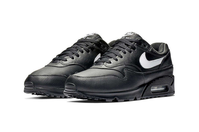 3a28adf016 Nike Air Max 90/1 Black Leather release info white sneakers