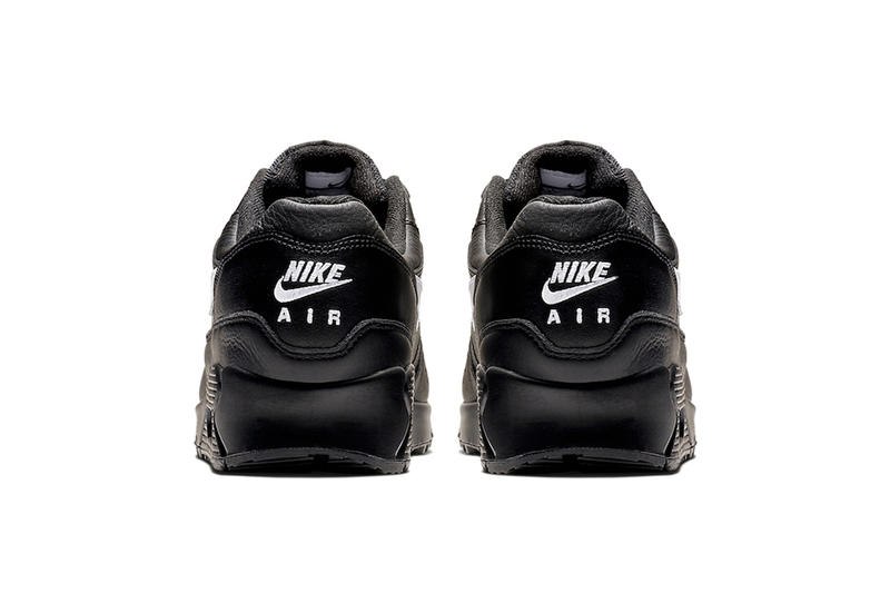 Nike Air Max 90/1 Black Leather release info white sneakers