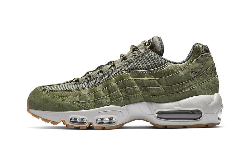 the best attitude d840c e6942 nike air max 95 olive canvas release footwear shoes sneakers drops
