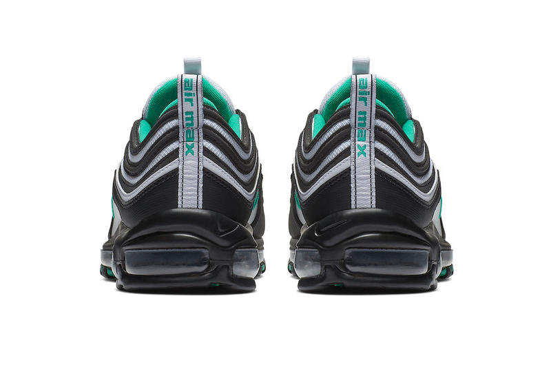 Nike Air Max 97 Emerald Green white black leather mesh release info sneakers