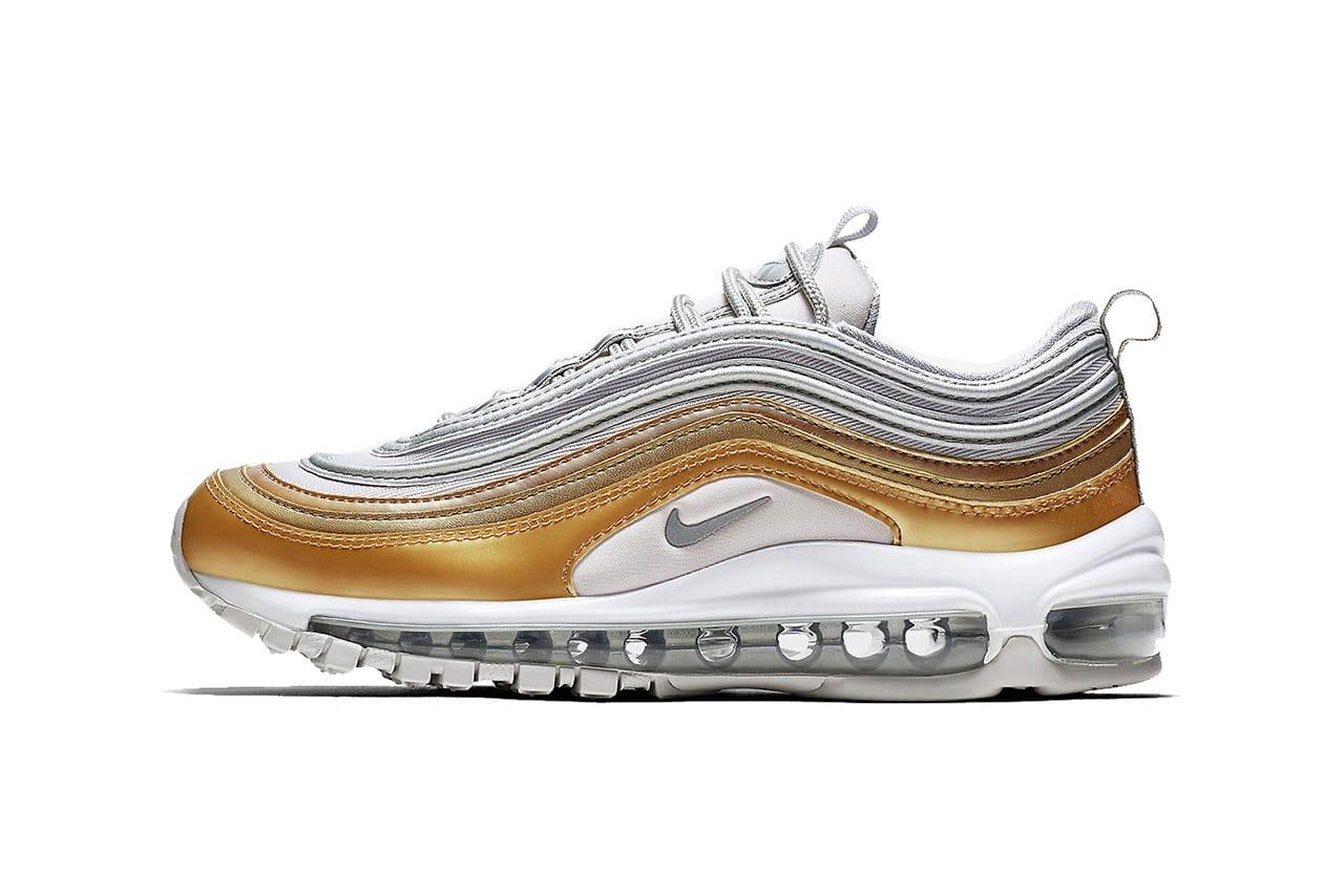 air max 97 silver gold black