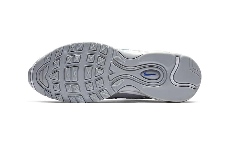 Nike Air Max 97 Wolf Grey Game Royal white branding