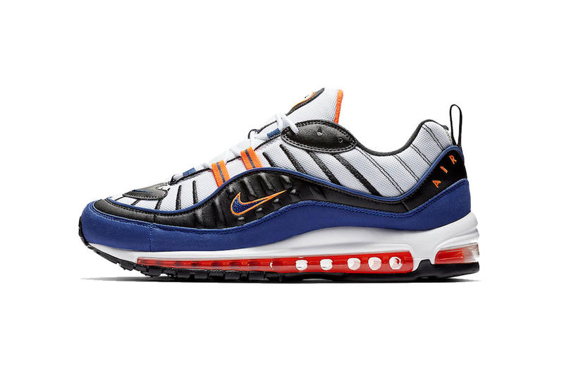 nike air max 98 white deep royal blue total orange black 2018 november nike  sportswear footwear 5630a973e