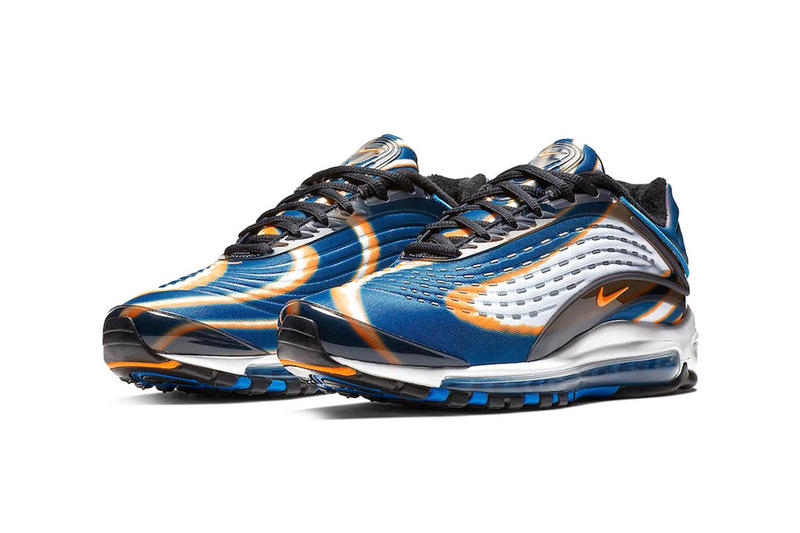 nike air max deluxe cool grey total orange blue force black bright grape cobalt tint release date 2018 november footwear nike sportswear