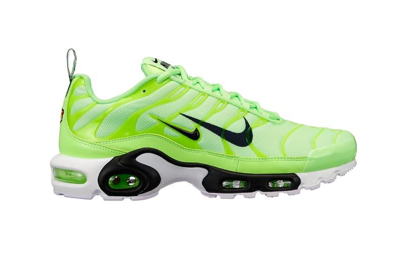 268ab8fe42 Nike Air Max Plus Double Swoosh Branding colorways sneaker release date  price info volt black