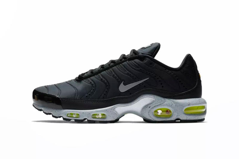 outlet store e0051 5a1fe Nike Air Max Plus PRM Black Leather & Full Volt | HYPEBEAST