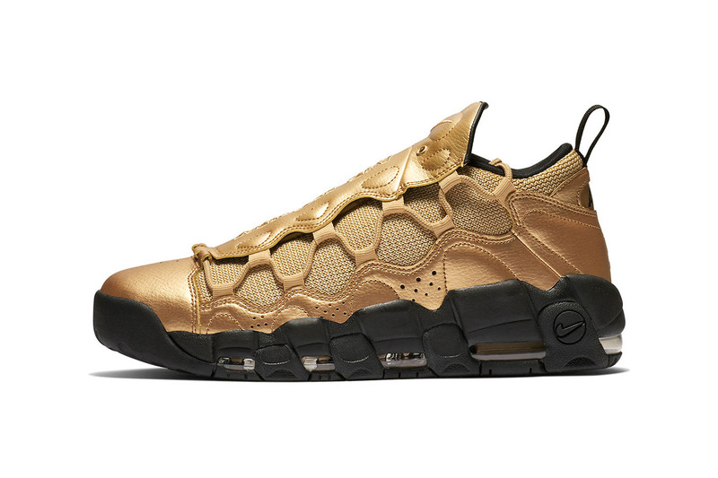 "Nike's Air More Money Gets Dipped in ""Metallic Gold"""