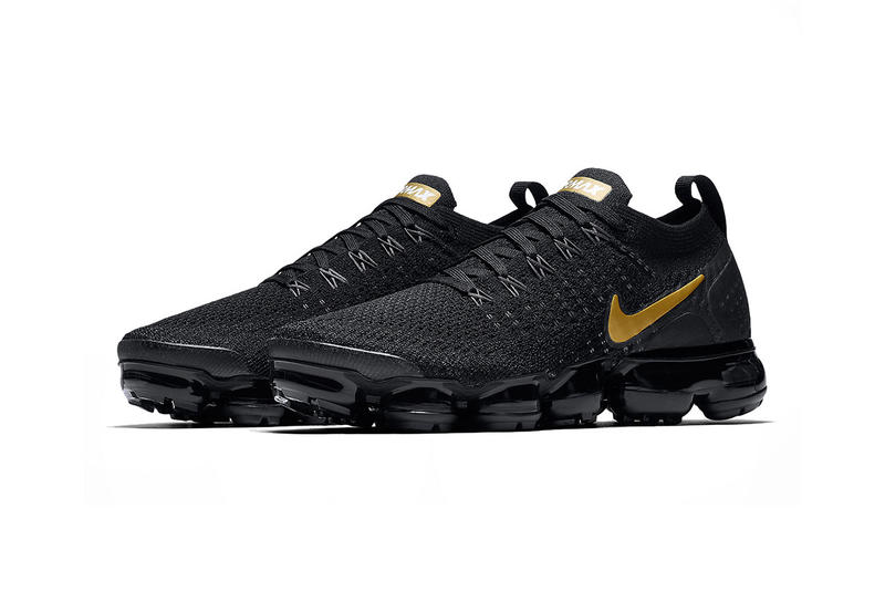 timeless design 1eb32 11343 nike air vapormax flyknit 2 0 black metallic gold metallic platinum 2018  october footwear nike sportswear
