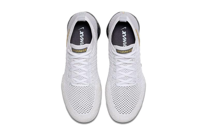 nike air vapormax 2 0 vast grey metallic gold pure platinum dark grey white 2018 november nike sportswear footwear
