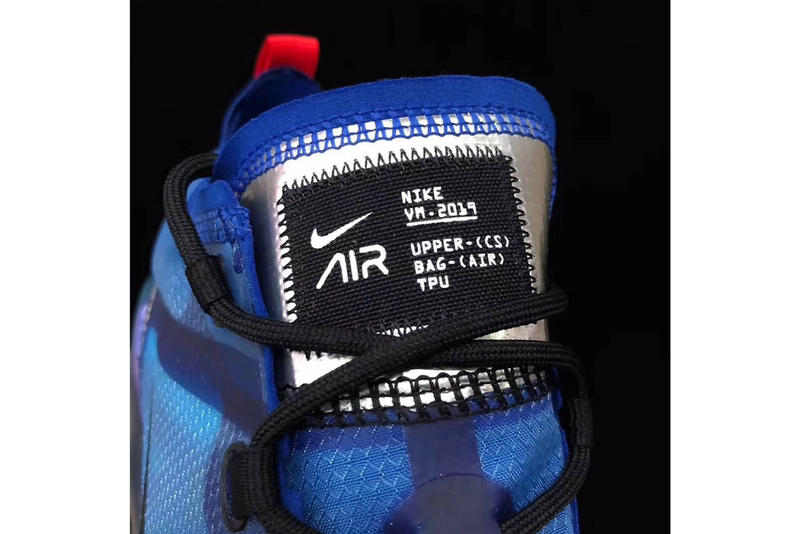 Nike Air Vapormax 2019 blue black red silver update evolution silhouette sneaker trainer first look kicks closer