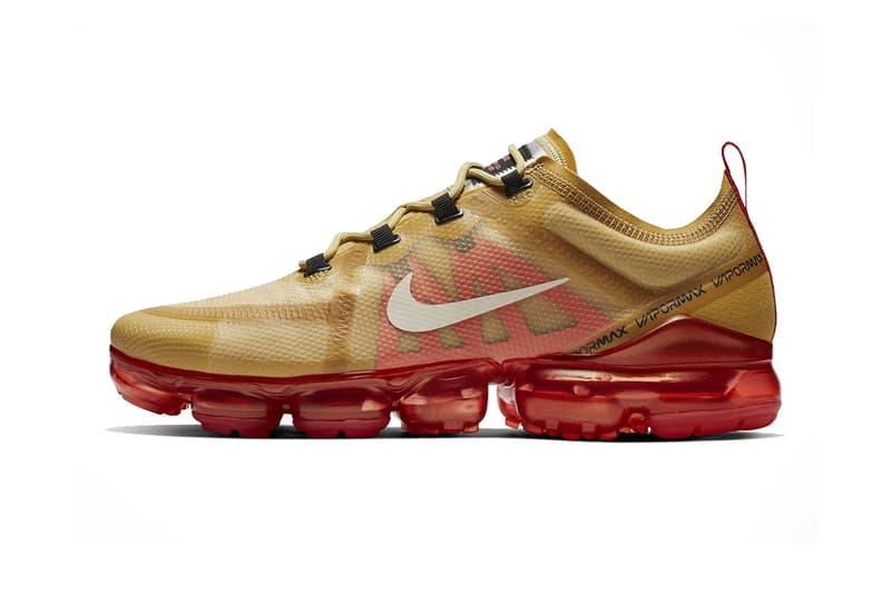 a9a5df9e2e636 nike air vapormax 2019 gold red footwear nike sportswear