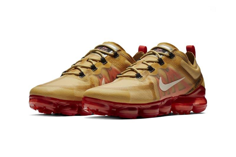 nike air vapormax 2019 gold red footwear nike sportswear