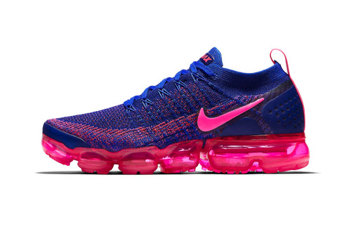 "Neon Pink Pops on Nike's Air VaporMax Flyknit 2.0 ""Racer Blue"""