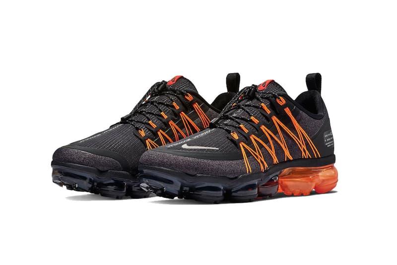 nike air vapormax run utility black orange 2018 november footwear nike sportswear