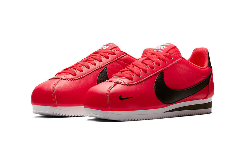nike cortez premium red orbit black white 2018 november nike sportswear footwear