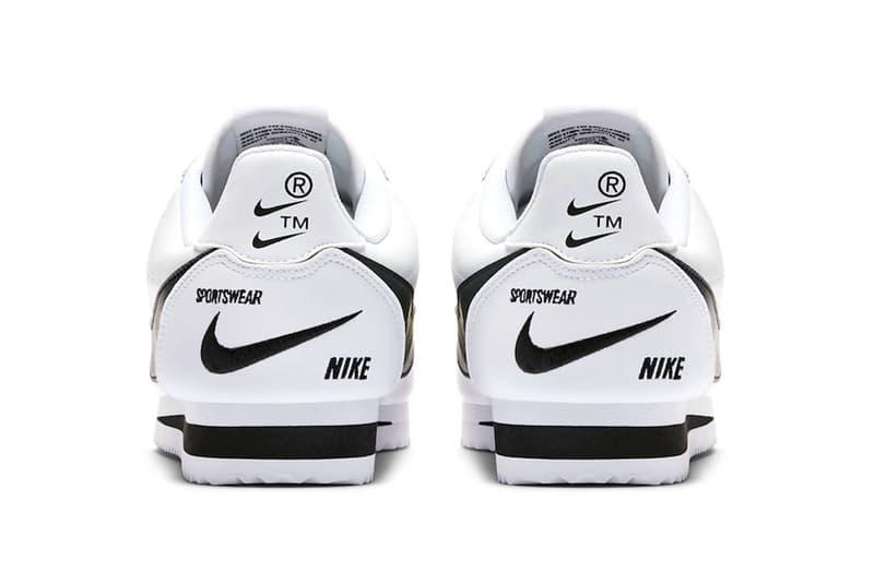 5e59b7b4f6d nike cortez premium swoosh white black 2018 footwear nike sportswear  trademark ™ registered ®