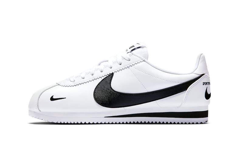 Cósmico nitrógeno Eliminación  Nike Cortez Premium Swoosh Logos White/Black | HYPEBEAST