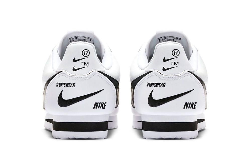Nike Cortez Premium Swoosh Logos White