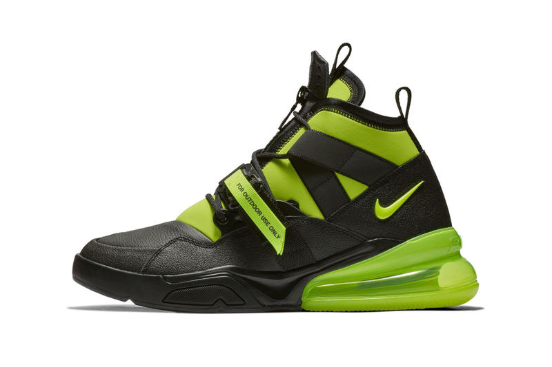 "Nike Air Force 270 Utility ""Volt"" Release Date  leather neoprene neon green"