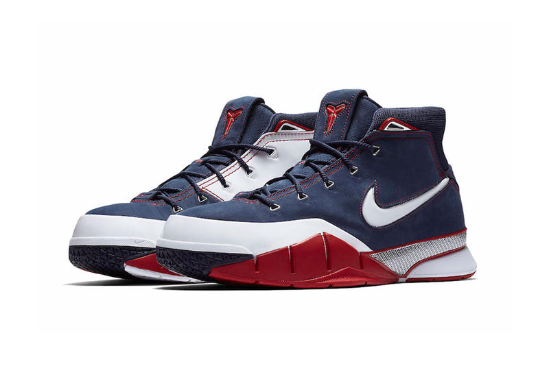 nike kobe 1 protro 2018 nike basketball footwear kobe bryant red white navy blue