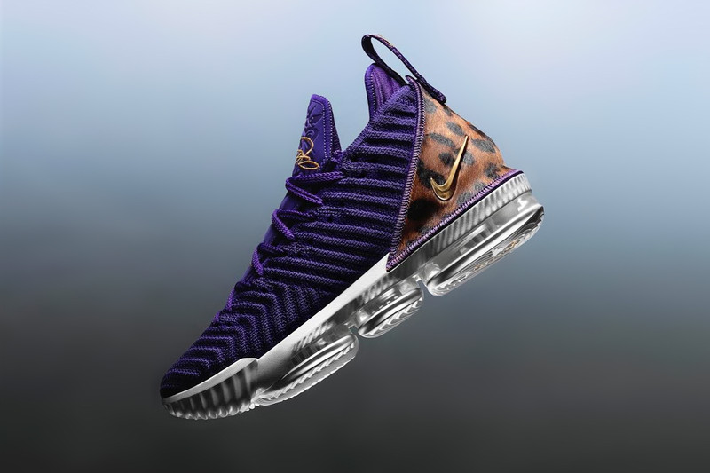 "LeBron James Debuts Nike LeBron 16 ""King Court Purple"" During Lakers Home Opener"