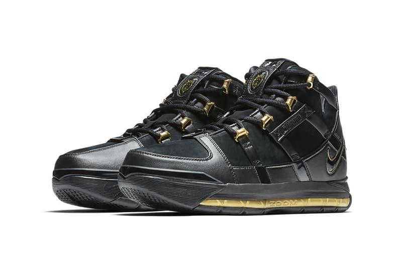 "Nike Zoom LeBron 3 Retro ""Black/metallic Gold"" Rerelease 2018 return sneaker colorway og lebron james price info date"