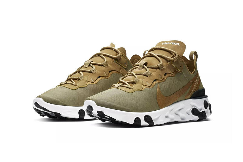 nike react element 55 olive 2018 footwear nike sportswear colorway release details drop info