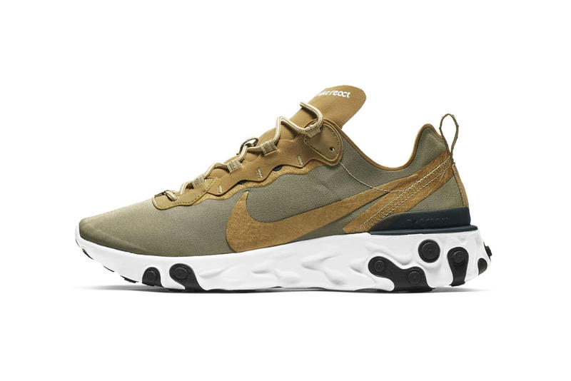 7b3fe04f5ac1 nike react element 55 olive 2018 footwear nike sportswear colorway release  details drop info