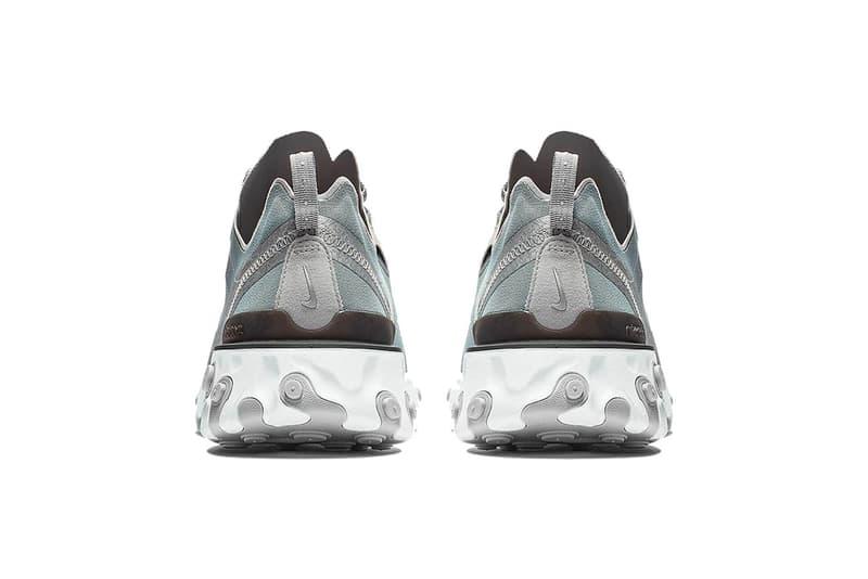 nike react element 55 silver white 2018 footwear nike sportswear