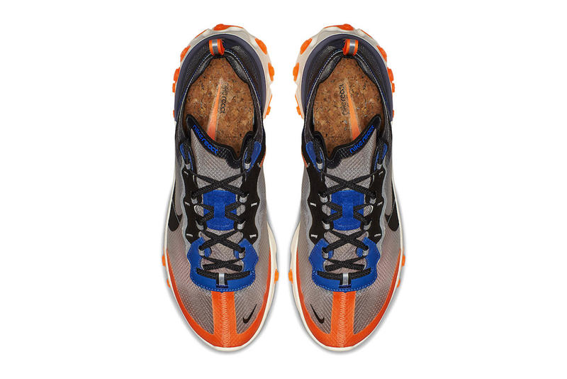 "Nike's React Element 87 ""Thunder Blue/Total Orange"" Release Date blue black grey orange info price purchase online sneaker colorway"