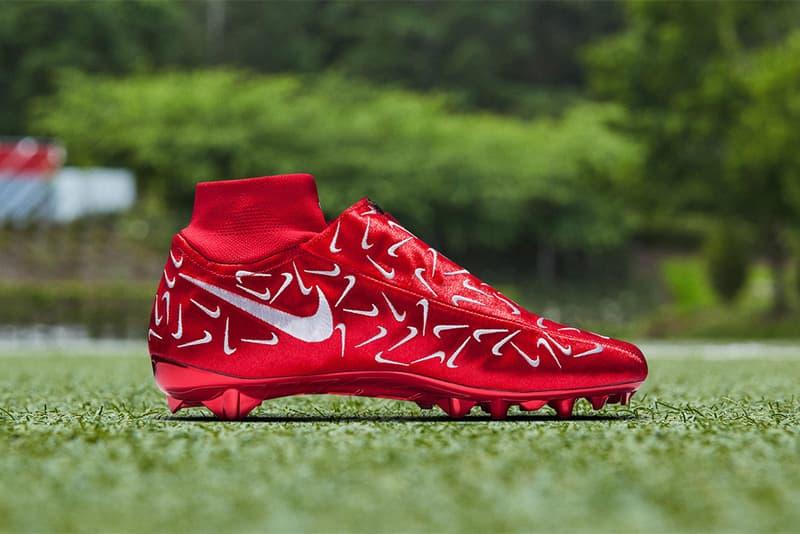 Odell Beckham Jr Nike Swoosh Cleat Special Edition sports OBJ Football NFL cleats footwear turf grass New York Giants