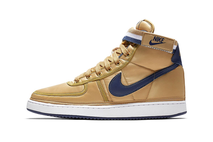 watch 1cf94 1aab2 The Nike Vandal High Supreme Returns in a Regal Gold   Navy Colorway