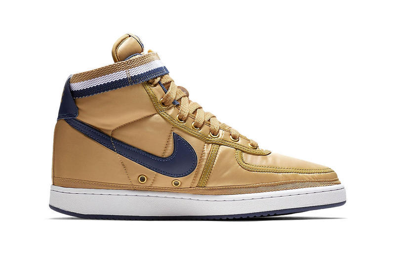 "Nike Vandal High Supreme ""Gold/Navy"" swoosh"