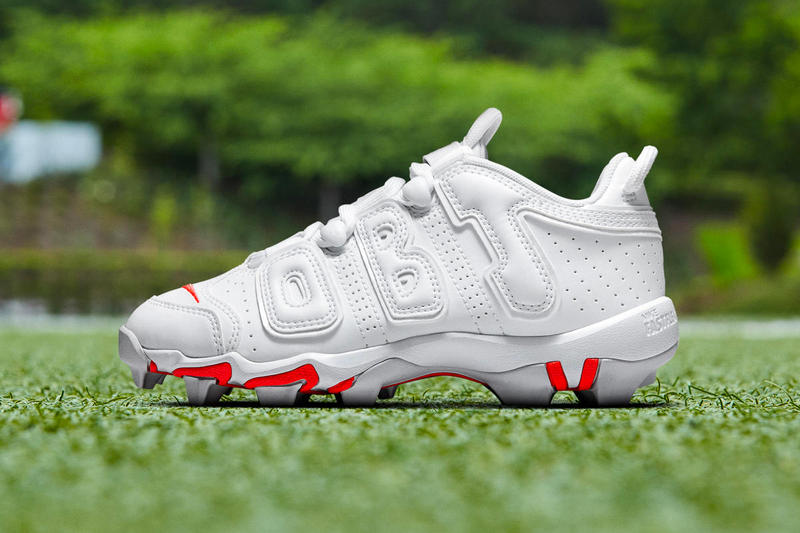 Nike Vapor Untouchable Pro 3 OBJ Uptempo Cleat Odell Beckham Jr. football grid iron sports Nike Air More Uptempo Philadelphia Eagles New York Giants footwear performance NFL