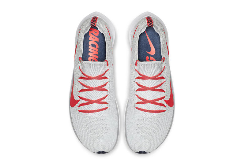 4254f825fd5a Nike Zoom Fly Pure Platinum Bright Crimson Flyknit sneaker colorway release  date info