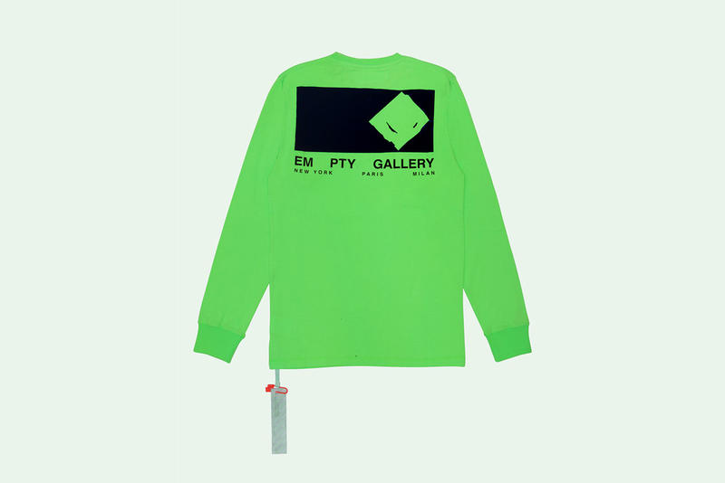 off white empty gallery 2018 fashion t shirt long sleeve short sleeve neon virgil abloh